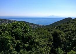 Vue sur la mer en juillet chambre d'hotes chateau Cagninacci